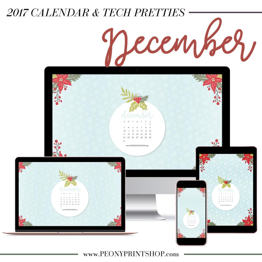 2017 December Tech Pretties | PeonyPrintshop.com