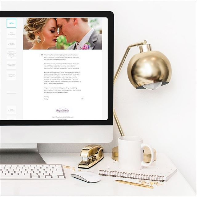 Having a beautiful brochure to send your inquiring couples can set you apart from the other vendors they are looking at. Whether you send them a PDF or use your CRM's brochure settings, make sure it's stunning. .  The good news is that you don't have to be a designer or spend thousands of dollars to have a beautiful brochure. I set up this particular brochure inside Honeybook for my amazing client @kelleys_events, an amazing wedding planner from Omaha, Nebraska. Last year we made a print booklet for her to share with vendors and couples. This year we digitized it so she can easily send it inquiring couples. .  And I'd love to do the same for you! I offer design and setup services for creative biz owners. Schedule a free discovery call with me today to find out how you can wow your clients from the very beginning. .  PS - I have an exciting new training coming next week to help you book more clients. So keep an eye out!