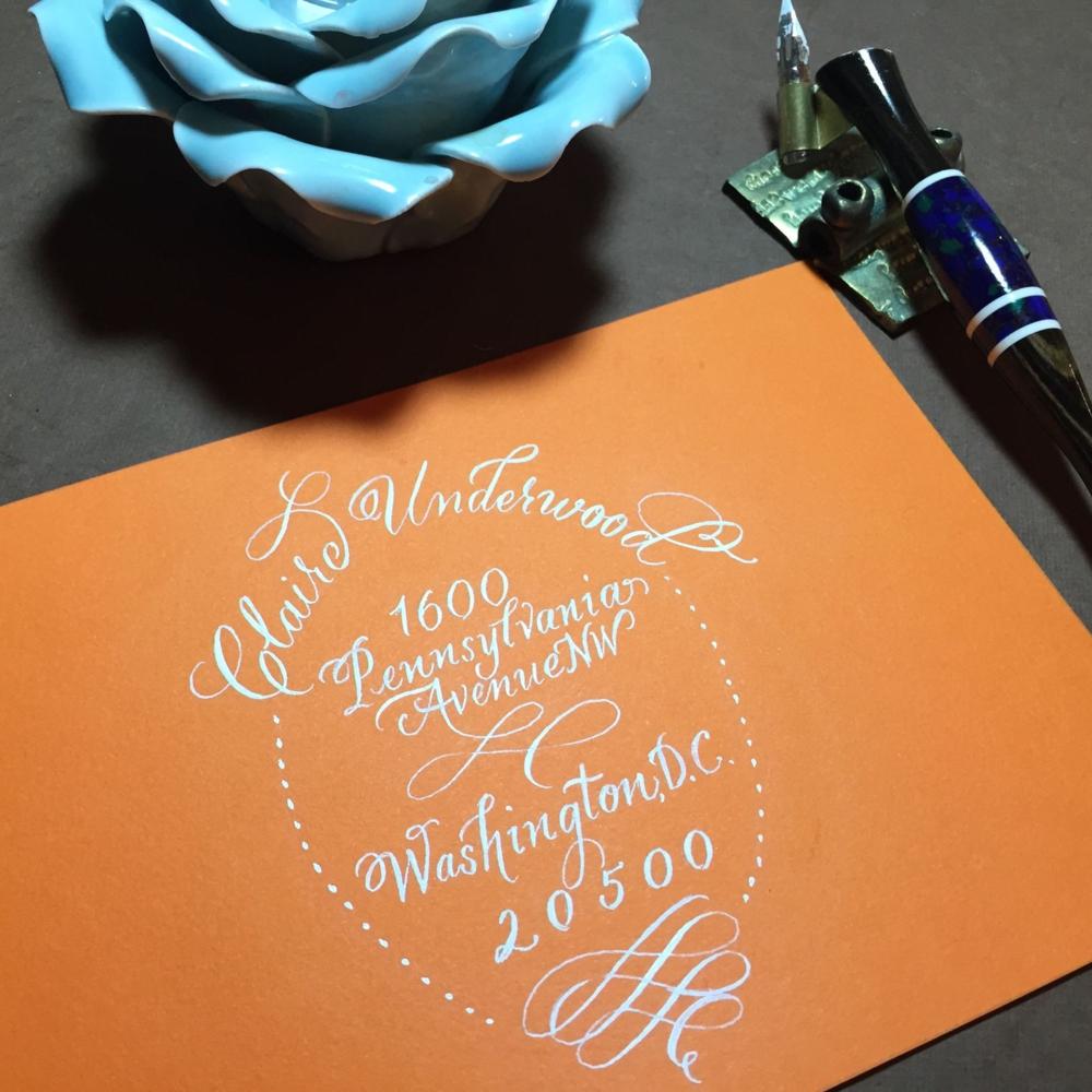 Envelope Calligraphy