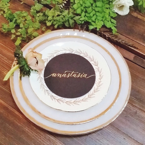 Custom cut place cards