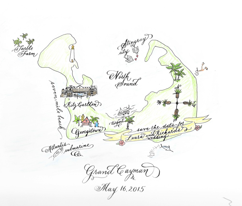 Grand Cayman Wedding Map