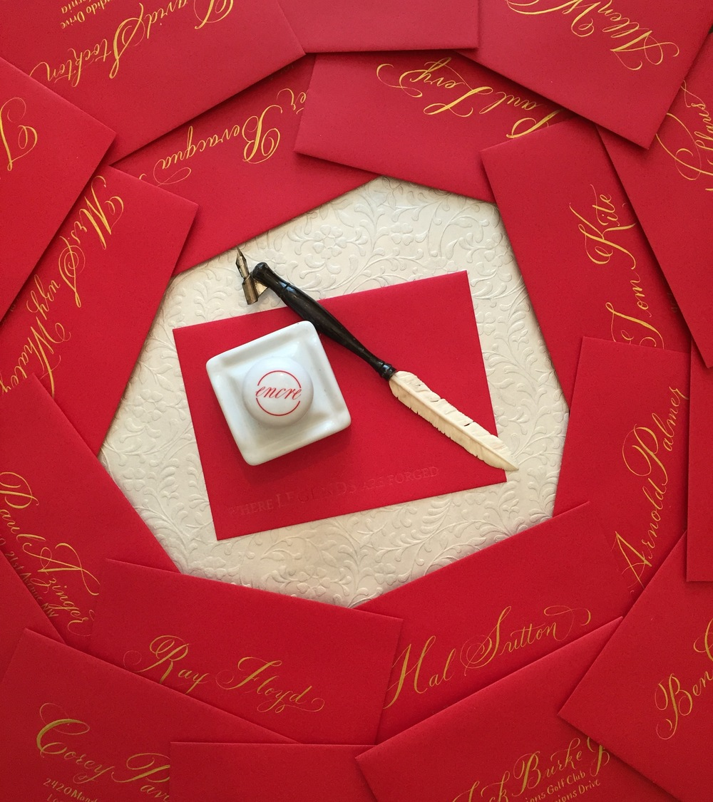 Red Envelopes with gold calligraphy