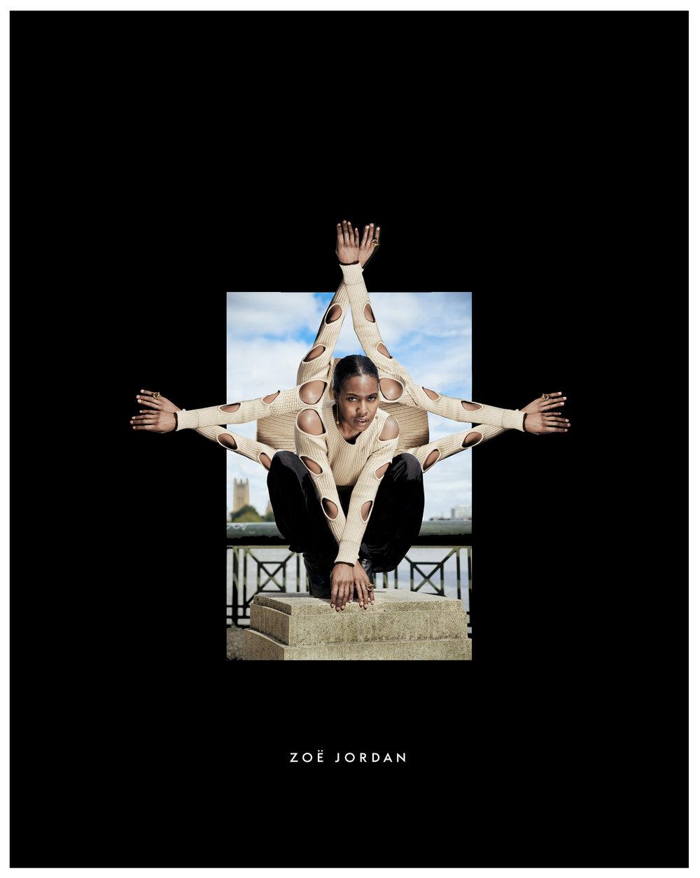 SUSAN BENDER WEARING ZOE JORDAN - PHOTO BY CHUCK NOBLE - COLLAGE AND CREATIVE DIRECTION JONATHAN FERRARI / SUSAN BENDER