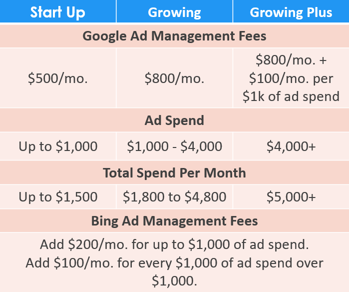 Pricing Plans for Google Ads for Pressure Washing Companies