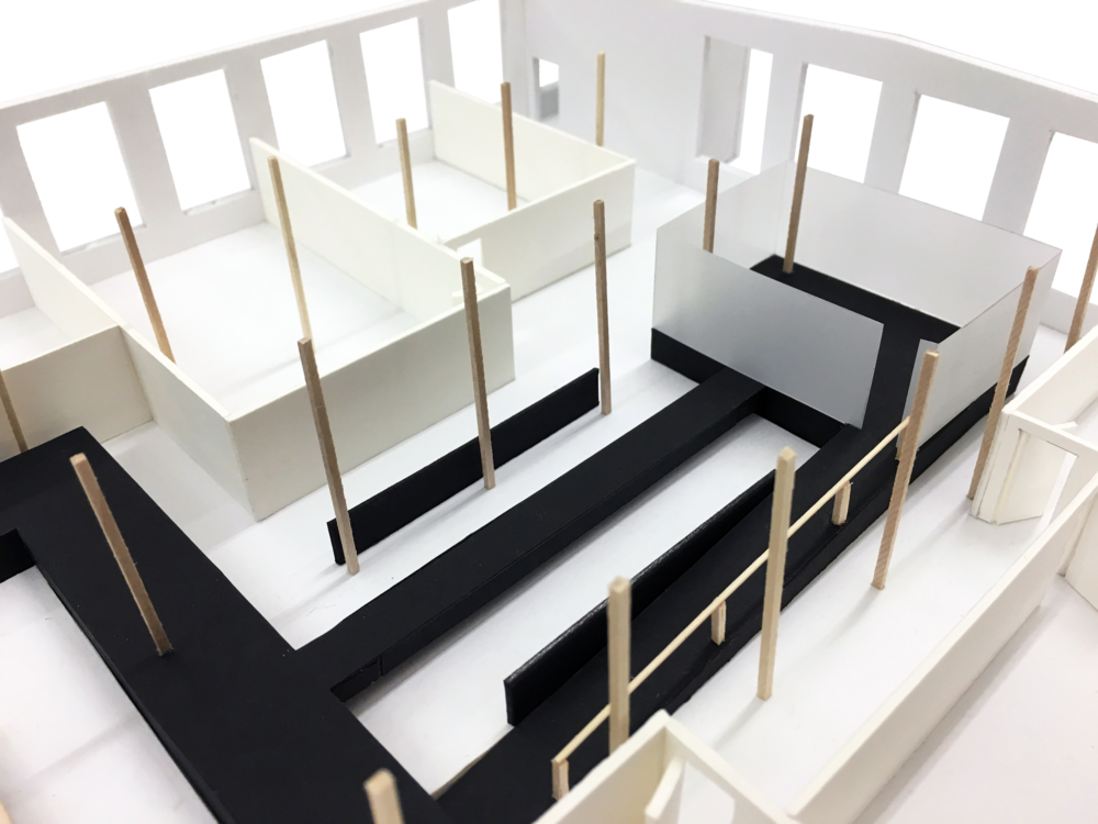 "Model 1/8""=1'-0""_Communal Table and Conference Room"