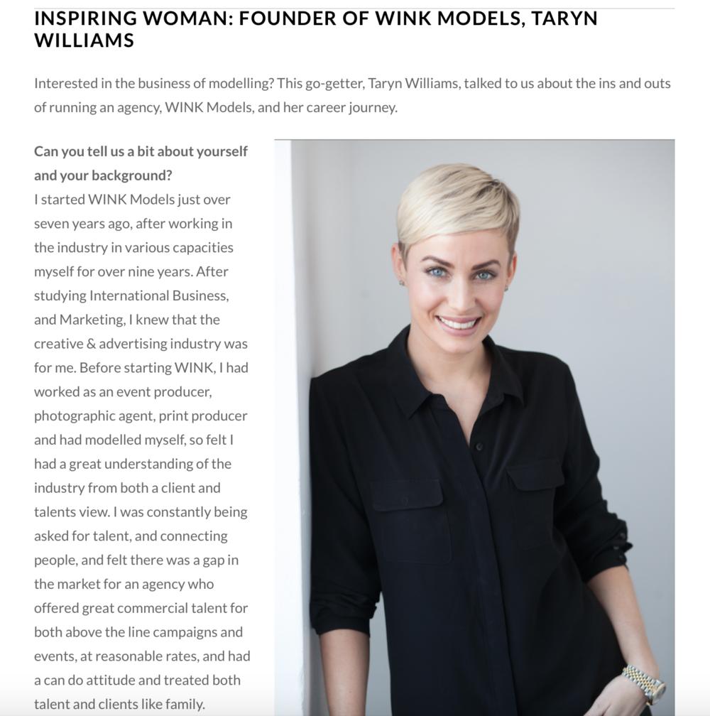 http://www.theworkher.com/inspiring-women/inspiring-woman-founder-wink-models-taryn-williams/
