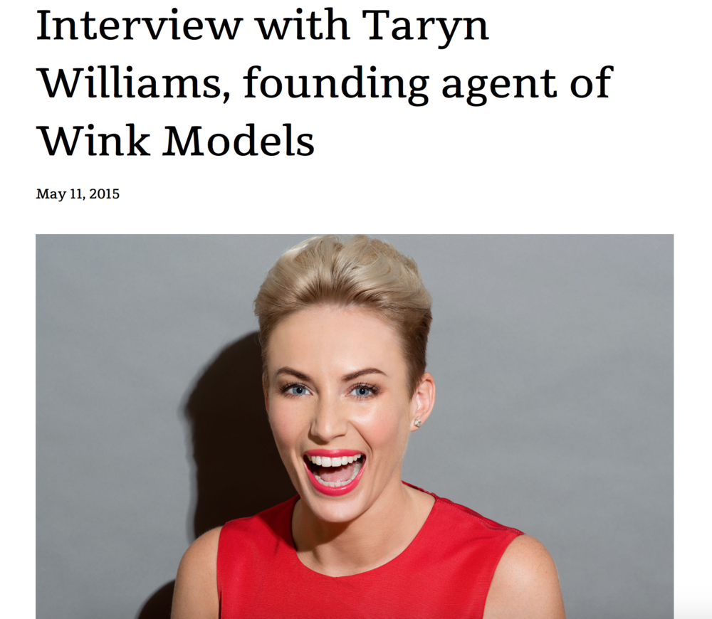 http://www.theviewmag.com/interview-taryn-williams-founding-agent-wink-models/