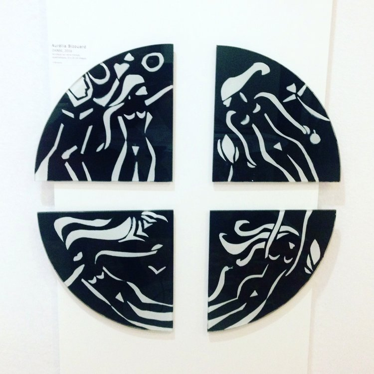 ADAM & EVE - Cutting off the black paint of the glass, white and black paint