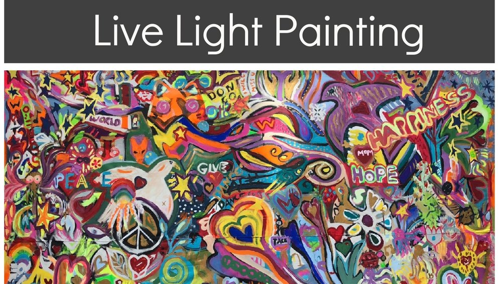 « Creating with others involves magic ». The light live painting art project is a public art experience, creating beauty and impacting the community by inviting people to create.