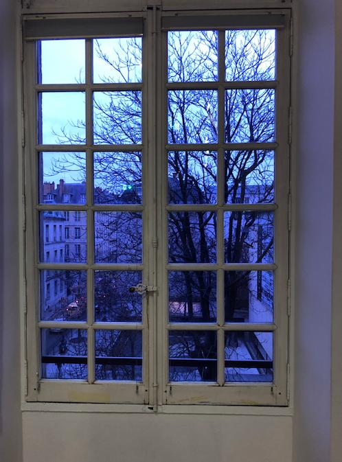 Paris. Looking through the window