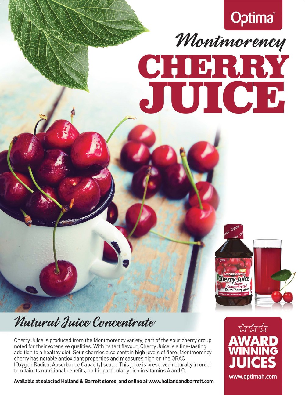 Montmorency Cherry Juice Banner (Optima)