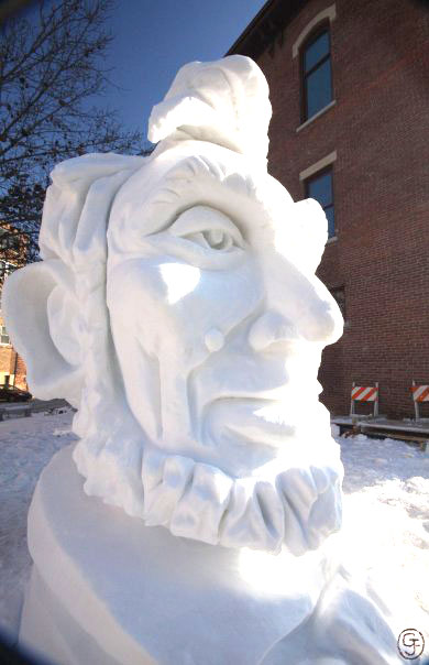 ABE LINCOLN SNOW PORTRAIT