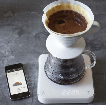 Williams-Sonoma   $130    Coffee enthusiasts might find all the bells and whistles useful. It precisely measures your grounds, but it also includes blooming and brewing timers so you can perfect your pour-over. It even syncs with an app on your smartphone to help you hone your brewing skills.