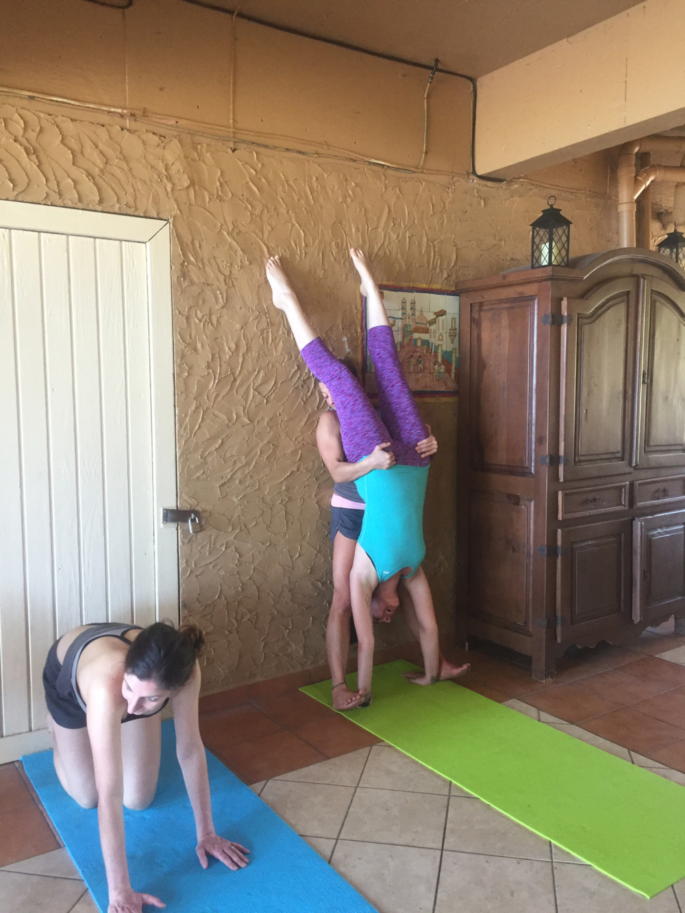 My less-than-graceful handstand.