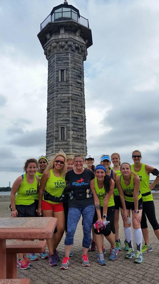 Group photo at the Roosevelt Island Lighthouse.