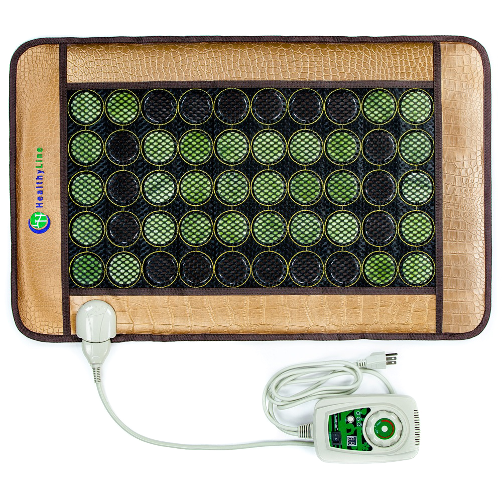 "This far infrared mat is heavenly! The HealthyLine 32"" x 20"" Mesh JT Pad Medium 3220 Soft InfraMat Pro® provides negative ions, far infrared rays, and heated gemstones. Includes 32 (2"") jade stones and 18 (2"") tourmaline stones. Read more here:  https://healthyline.com/product/014b/   Check Amazon Prime for Christmas delivery:  https://amzn.to/2Bm7uGZ"