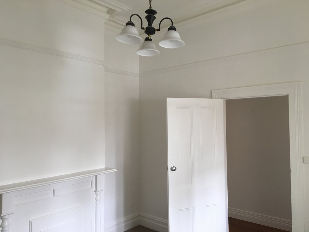 Dulux natural white, walls, ceiling and trim