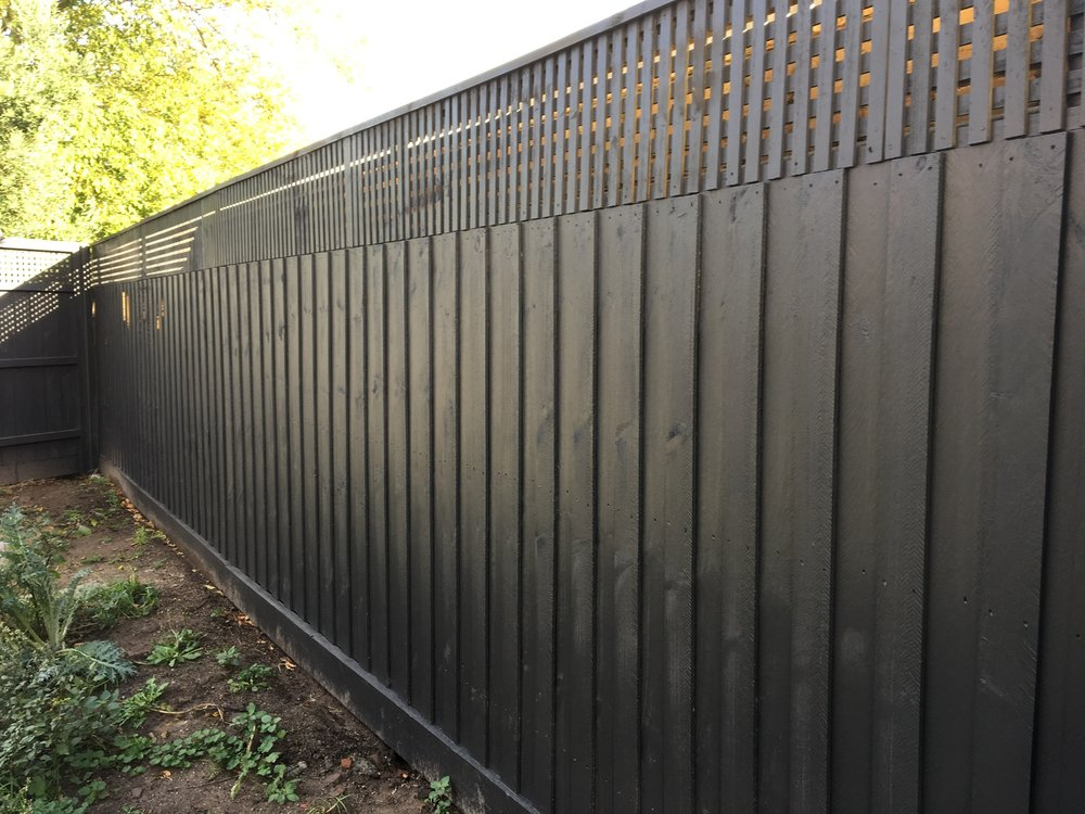 All Our Fences Are Rolled On With 2 Coats Of A Good Quality Exterior  Lowsheen. Rolling And Brushing Gives You A Lot Better Coverage And Gets  Into The Timber ...