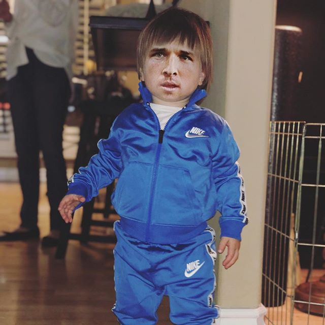 Captions Welcome // We put Jagger in a @nike tracksuit and all of a sudden he started looking like @abreg_1
