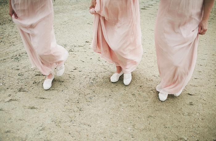 bridesmaids, simple bridesmaids dresses, toms shoes