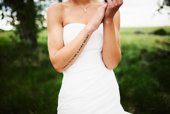Lethbridge Wedding Photographer, Calgary Wedding Photographer, bride, tattoo