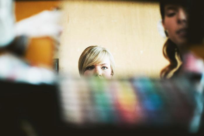 Lethbridge Wedding Photographer, Calgary Wedding Photographer, bride getting ready, mirror reflection, makeup