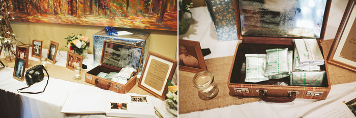 Canmore Wedding, Stewart Creek Golf and Country Club, Instax at the reception