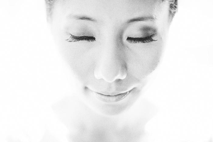 Toronto Wedding Photographer, Bride Getting Ready, Black and White Portrait, Chinese Wedding, Bohmer, Spadina House
