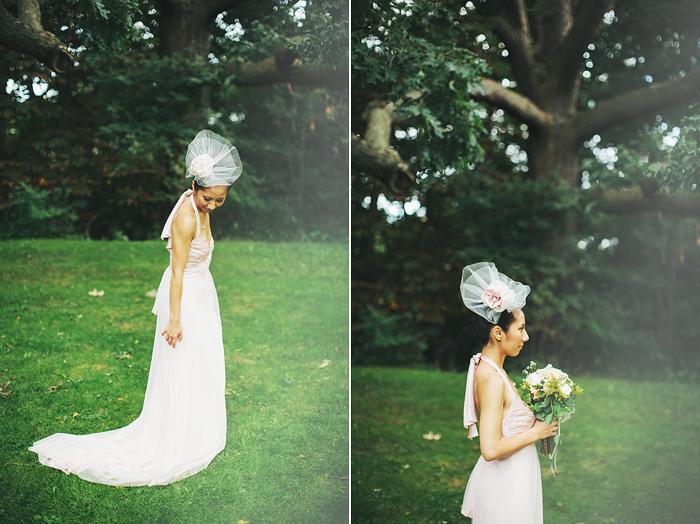 Toronto Wedding Photographer, Bridal Portrait, Hairpiece, Vera Wang Dress, Chinese Wedding, Bohmer, Spadina House