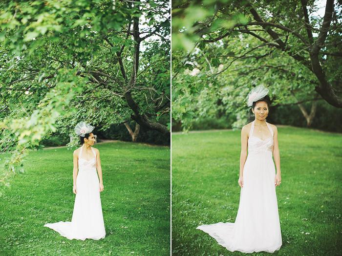 Toronto Wedding Photographer, Bride Portrait, Vera Wang Dress, Chinese Wedding, Bohmer, Spadina House