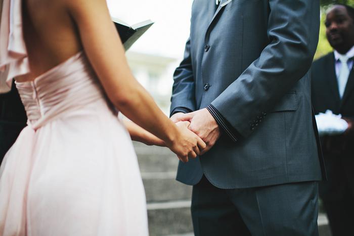 Toronto Wedding, Calgary Wedding Photographer, Spadina House, Chinese Wedding, Bohmer, Ceremony Hands Shot