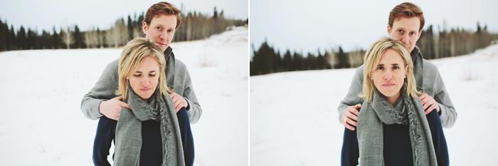 Calgary Wedding Photographer, Mountain Engagment Session, Snow, Azuridge