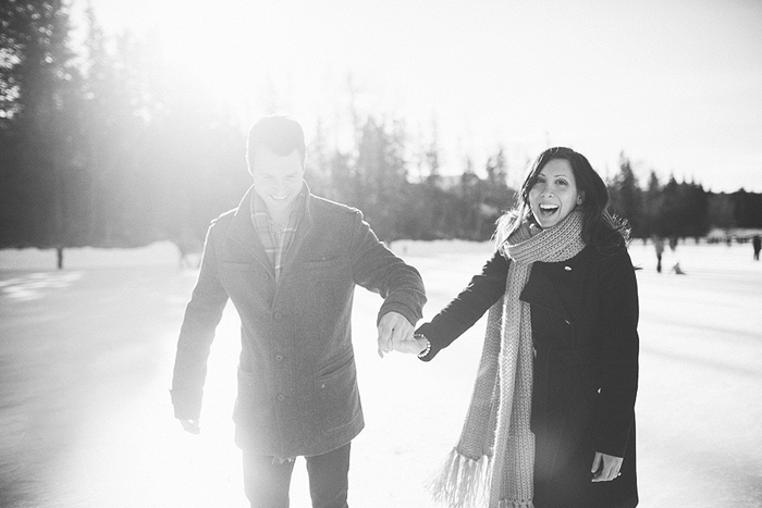Engagment Session on skates, Calgary Wedding Photographer, Winter Engagement, Bowness Park