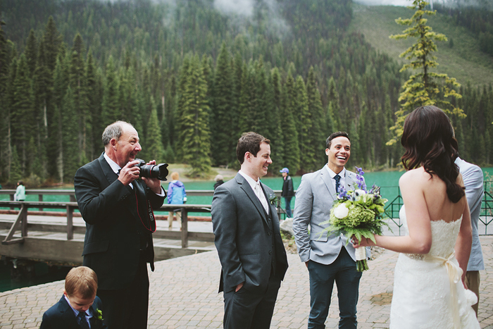 emerald lake wedding, emerald lake british columbia, mountain wedding, rocky mountain resort