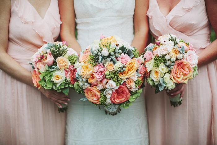bridesmaids, coral bridesmaid dresses, rustic wedding, coral pink flowers, saskatoon farm wedding, calgary wedding, david guenther