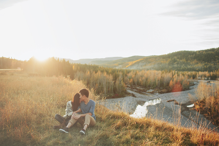 calgary wedding photographer, engagement session, mountain engagement session, fall engagement session