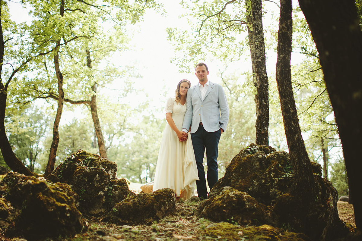 provence wedding, france wedding, wedding portraits in the woods, france wedding photographer