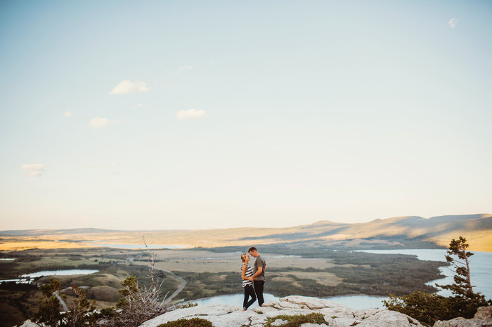 waterton engagement session, waterton wedding photographer, waterton wedding, calgary wedding photographer, mountain engagement session, bears hump, waterton lake