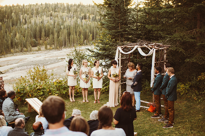 Hillside Chalet Wedding, Golden Wedding, Calgary Wedding Photographer, Mountain Wedding, Outdoor Wedding Ceremony