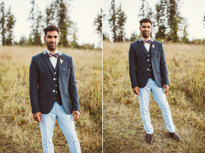 groom in blue suit, j crew, indian wedding, calgary wedding photographer