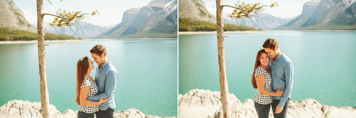 banff engagement session, banff wedding photographer, lake minnewanka, two jack lake, mountain engagement session, alberta wedding photographer, mountain wedding photographer