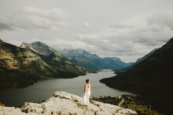 waterton elopement, waterton wedding, mountain wedding, alberta
