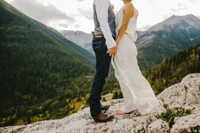 waterton elopement, waterton wedding, mountain wedding, alberta