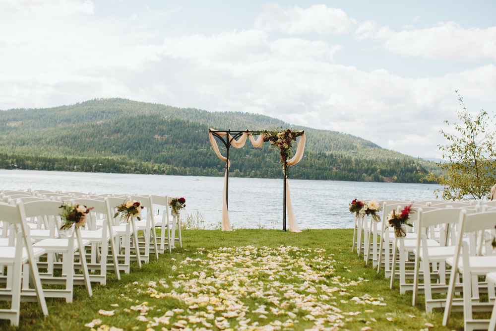 mountain wedding, lake wedding, alberta wedding photographer, outdoor wedding, outdoor ceremony