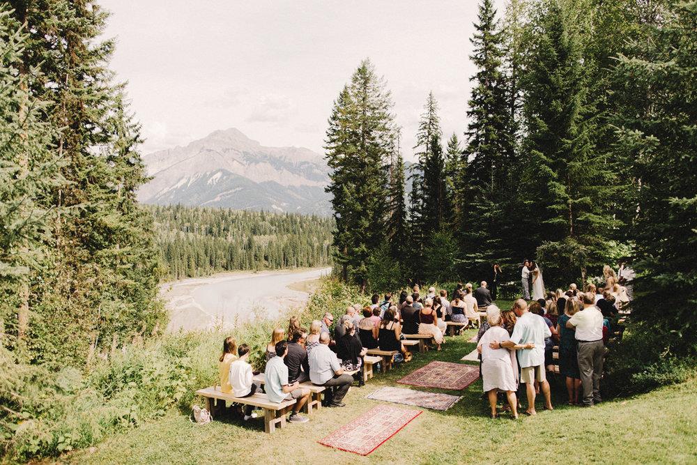 hillside chalet golden wedding, bc wedding, mountain wedding