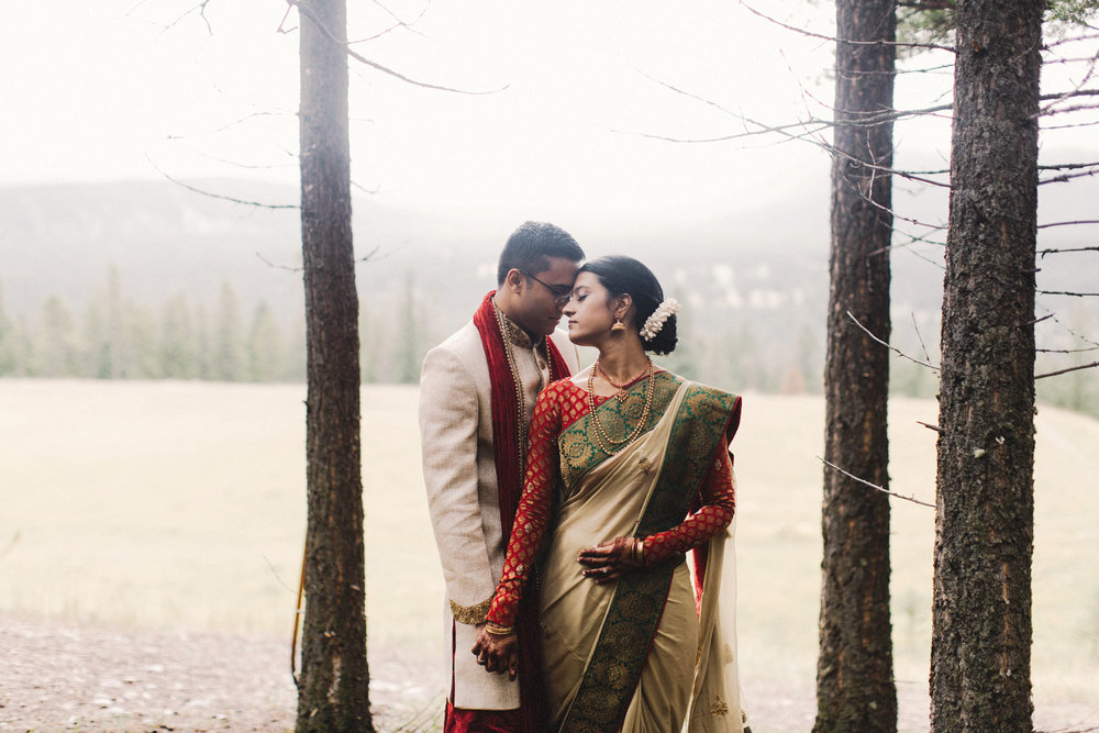 banff wedding, indian wedding, mountain wedding, small mountain wedding, banff wedding photographer, canmore wedding photographer