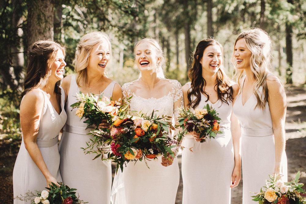 calgary wedding photographer, calgary wedding, reem acra dress, elegant bride, vera wang bridesmaids