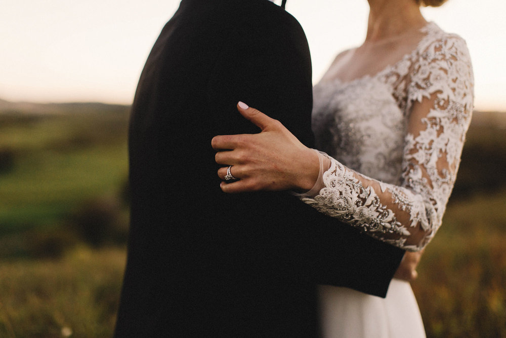 calgary wedding photographer, sirocco wedding, sunset portraits, dusk portraits, reem acra dress, armani groom