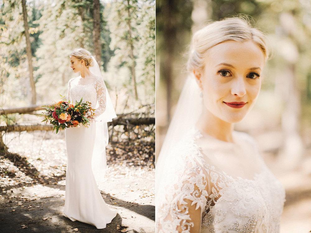 calgary wedding photographer, calgary wedding, reem acra dress, elegant bride
