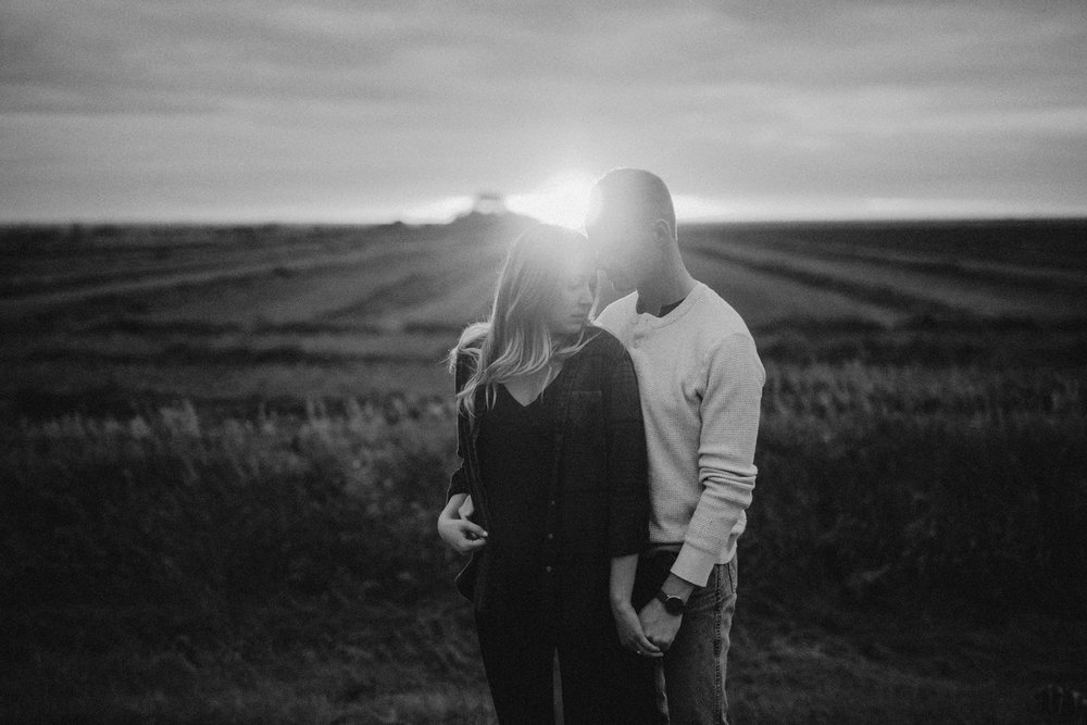 Southern Alberta Engagement Session BW -07.JPG